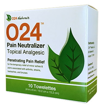 O24™ Pain Neutralizer Towelettes (10 Pack)